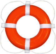 Taylor Made Boat Vinyl Coated Foam Life Ring 24 Orange With White Rope 364