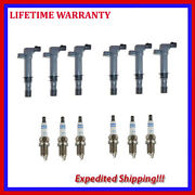 6 Ignition Coils And 6 Spark Plugs For Dodge Jeep Mitsubishi 3.7l Udo2566