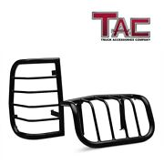 Tac Rear Tail Light Guards Covers Protector For 1996-2002 Toyota 4runner Black
