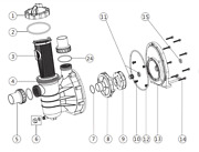 Emaux Ss Swimming Pool Pump Genuine Parts Ss020 Ss033 Ss050 Ss075 Ss100 Ss120