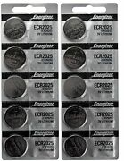 500 Fresh Genuine Energizer Cr2025 2025 3v Coin Button Batteries Fast Shipping