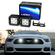 20w Cree Led Pod Light Kit W/ Behind Grill Mount Wiring For 15-17 Ford Mustang