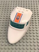 Lego Aircraft Fuselage Curved Forward 6 X 10 With 3 Window Panes 60015