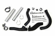 Black Replica Replacement Exhaust Pipes Header Kit 1948-1957 Harley Panhead Fl