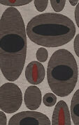 Brown Transitional Ovals Hoops Area Rug Circles Tr4