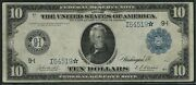 Fr938 10 1914 Frn Star Note Minneapolis Ext Rare 13 Recorded Vf+ Wlm5290