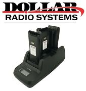 3 Bank Battery Charger For Motorola Cp200 Cp200d Pr400 Radio With Drs Batteries