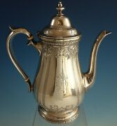 Navarre By Watson Sterling Silver Coffee Pot Chased 9826 2143