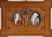 18th/19th Century Of French Miniature Watercolor Portraits