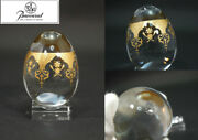 Rare Baccarat Egg Shaped Figurines Prestige Crystal Gold Color From Japan F/s