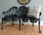 English Garden Bench Furniture Victorian Old Style Seat No Rust Metal
