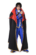 Code Geass Lelouch Of The Rebellion Cosplay Costume Zero 2nd Version Set