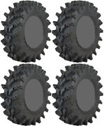 Four 4 Sti Outback Max Atv Tires Set 2 Front 32x10-14 And 2 Rear 32x10-14