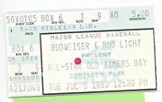 July 5, 1983 All-star Old Timers Day Comiskey Park Ticket Stub