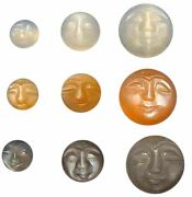 Natural Extra Fine Moonstone - Carved Man-in-moon - Madagascar - Aaa+ Grade