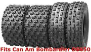 Set 4 Wanda Sport Atv Tires 22x7-10 And 20x10-9 Can Am Bombardier Ds650 Gncc Race