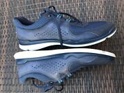 215 Ecco Men's Lynx Navy Blue Leather And Synthetic Fashion Sneakers ,size 13.