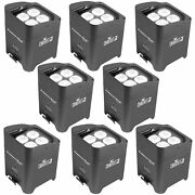 Chauvet Freedom Par Quad-4 Wireless Battery-powered Led Par Light - 8-pack