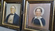 Antique American Folk Art Fine Couple Midwest Il Oil Paintings Pair When Iand039m 64