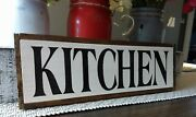 Kitchen Wood Sign Farmhouse Kitchen Wooden Rustic Family Small 12.5 Country