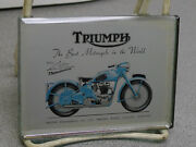 Rare 1950and039s Triumph Factory Dealer Mirror Paperweight