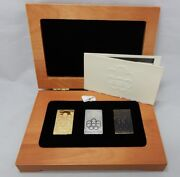 1976 Montreal Xxi Olympic Stamp Set In 24k Gold .999 Silver And Bronze In Box