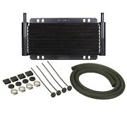 Derale 13215 Universal Series 8000 Plate And Fin Power Steering Cooler Kit