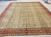Masterpiece 1930-1939s Antique Wool Pilevegy Dyes 8and0393andtimes9and0398 Hereke Rug
