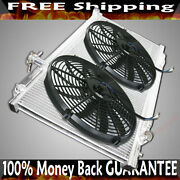 Dual Core Radiator+ Fans For 03-09 Nissan 350z 2d Manual Transmission 2 Row 2