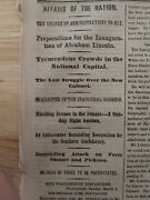 Civil War Ny Times March 4 1861 Abe Lincoln Inauguration Day Confederacy Sumter