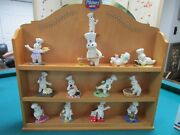 12 Doughboy Collectibles Figurines And Spice Wooden Rack From Danbury Mint