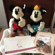 Japan Limited 3000 Pieces Mickey And Minnie Stuffy Disney 70th Anniversary F/s