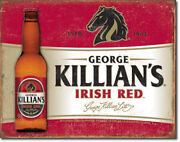 George Killianand039s Irish Red Lager Beer Beers Alcohol Humor Metal Sign