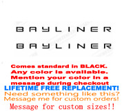 Pair Of 3x28 Bayliner Boat Hull Decals. Marine Grade. Your Color Choice 142