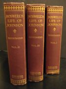 The Life Of Samuel Johnson L.l.d. Reprinted Verbatim With The Appendix The