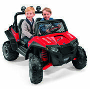 Kids Battery Powered Car 12-volt Girls Ride-on Electric Red Ranger Jeep Rzr Toy