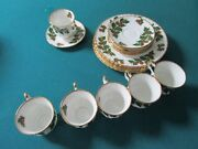 Queens England Tea Set Yuletide Christmas Holiday Cup Saucer Plates 18 Pcs