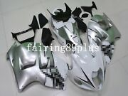 White Silver Abs Injection Fairing Kit Fit For 1997-2007 Gsxr1300 Busa Gen 1