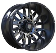 24x14 American Truxx Dna Glossy Black And Milled At184 Wheel Rim - 6x135 -76