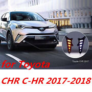 Exact Fit Switchback Led Drl Lights W/ Turn Signals For Toyota Chr C-hr 2016-18