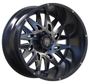 24x14 American Truxx Dna Glossy Black Machined Milled At184 Wheel - 8x165 -76