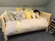 Ethan Allen Twin Sleigh Bed Ivory