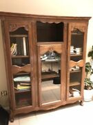 Antique French Oak Bookcase -andnbsp62 X 69.5 X 16