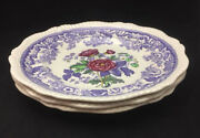 Spode Mayflower Dinner Plates Set Of 3 - Beautiful Floral Center With Lavender
