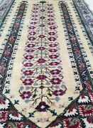 Rare Vintage 1950-1960 Multi-colored 2and0395andtimes5and0392 Wool Pile Prayer Rug
