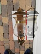Gas And Electric Architechtural Lighting Co. Brass / Copper Sconce Glass Lamp Nice