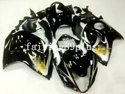 Black Abs Injection Drilled Fairing Kit Fit For 2008-16 Gsxr1300 Hayabusa Gen 2