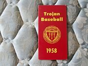 1958 Usc Baseball Media Guide Track Yearbook Duo Nat Championships Program Ad