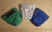 Bum-ware Aio Cloth Baby Diapers With Hook And Loop Closure Size Medium/set Of 3