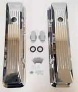 Small Block Chevy Tall Recessed Chrome Aluminum Ball Milled Valve Covers Sbc 350